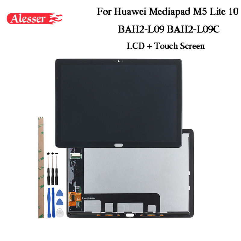 Alesser For Huawei Mediapad M5 Lite 10 BAH2-L09 BAH2-L09C LCD Display + Touch Screen +Tools+Adhesive For Huawei Mediapad M5 Lite