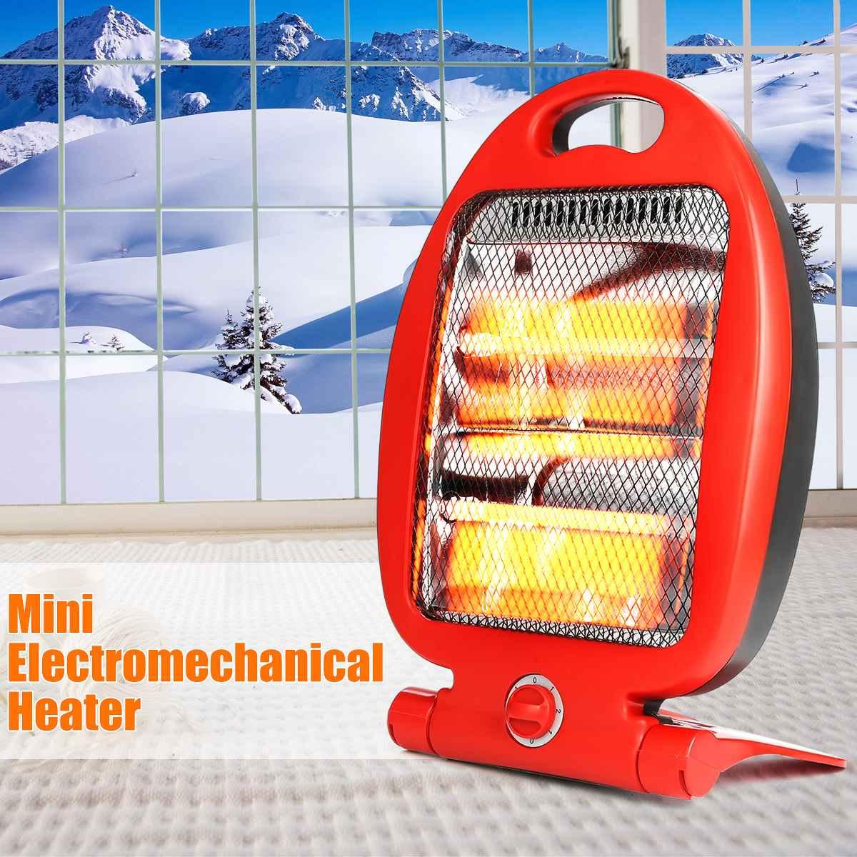 800W Adjustable Portable Electric Heaters Home Room Floor Desk Electric Fan Heater Warmer Hot Winter Electromechanical Heater