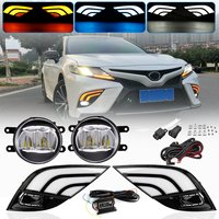 Led Camry 2018 Blue/White/Yellow Drl+Fog Lamp Light Daytime Running Light Camry For Toyota Camry SE Car Accessories Car Styling