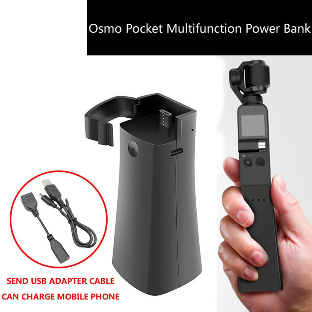 Osmo Pocket Handheld Gimbal Camera Portable Multifunction Power Bank Rechargeable Phone Accessories USB Charging Cradle Stand