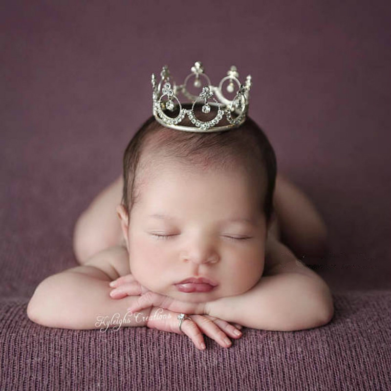 Newborn Photography Props Accessories Gold Ring Baby Crown Prop Boys Crown Baby Girl Photo Shoot Princess Crown Baby Photo Props