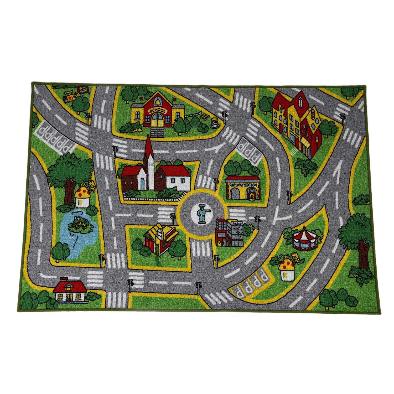 Tapis de jeu bébé enfants tapis de jeu City Street Map tapis d'apprentissage garçon fille chambre salle de jeu 100*150 cm