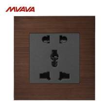 MVAVA 5 Pin Universal Outlet Wall Decorative Multifunction Receptacle 10A 110-250V 2 Pin 3 Pin Plug EU/UK Socket Free Shipping wallpad luxury universal socket goats brown leather frame ac 110v 250v 5 pin universal wall socket outlet free shipping