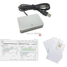 LTE ICCID IMSI SIM Card Reader Writer Programmer 2FF 3FF 4FF 2G 3G 4G Writbale SIM +5pcs SIM blank Cards+SIM personalize Tool