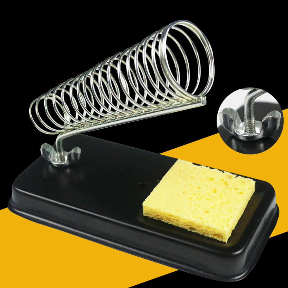 4 Types Electric Soldering Iron Stand Holder With Welding Cleaning Sponge Pads Generic High Temperature Resistance