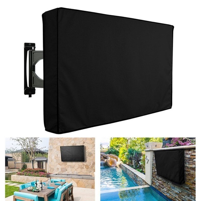 Outdoor Tv Cover Without Bottom Waterproof Dust Proof 600d Oxford Cloth Fits Most Television 22 65 Inches