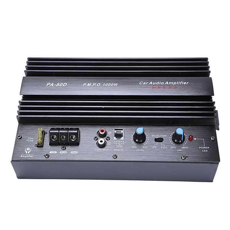 لوحة مضخم صوت للسيارة بقدرة كبيرة 1000 واط 12 فولت 10 بوصة 15 مضخم صوت Pa80D C5198 + A1941 ترانزستور بتصميم حماية