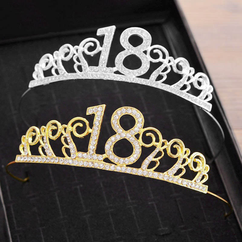18th Birthday Crown For Women Adults Girl Eighteen