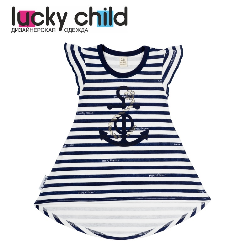 Dresses Lucky Child for girls 28-64D (18M) Dress Kids Sundress Baby clothing Children clothes dresses lucky child for girls 50 63 18m dress kids sundress baby clothing children clothes