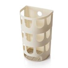 Мини Многофункциональные настенные мешки для мусора лоток коробка для хранения пластиковые сумки Держатель для кухонных принадлежностей посуда органайзер для мелочей