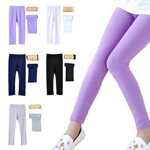 Kidlove Girls Modal Leggings Elastic Solid Color Stain-proof Ninth Pants Trousers Pakistan