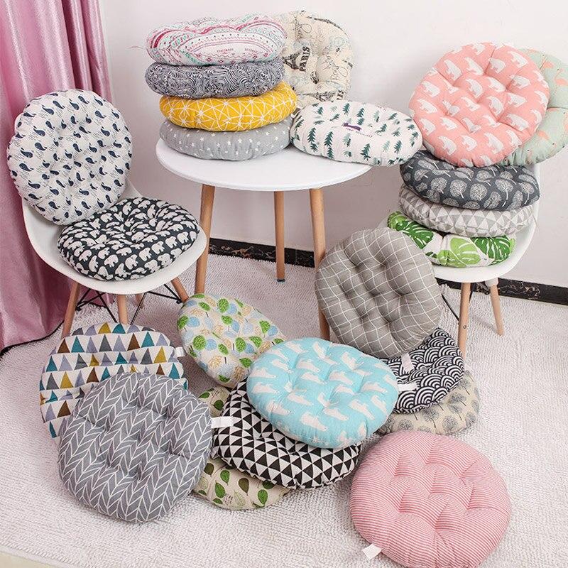 Round Seat Cushion Printing Chair Cushion Floor Tatami Cushion Car Office Family Decorate Cushion 45x45cm/50x50cm Free Shipping