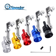 ESPEEDER Universal Car Size M Turbo Sound Whistle Stainless Steel Fake Blow Off Vale BOV Simulator Sound Exhaust Pipe Muffler turbo sound exhaust muffler pipe whistle blow off bov simulator whistler silver size l