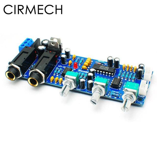 CIRMECH Placa de amplificador de micrófono PT2399 NE5532, preamplificador, reverberación, sonido Echo