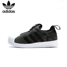 купить ADIDAS SUPERSTAR Original Kids Shoes Children Running Shoes Comfortable Sports Sneakers #CQ2549 по цене 2708.16 рублей