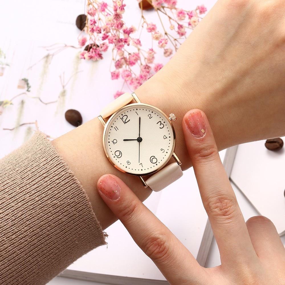 Top Style Fashion Women's Luxury Leather Band Analog Quartz Wrist Watch Golden Ladies Watch Women Dress Reloj Mujer Black Clock 2