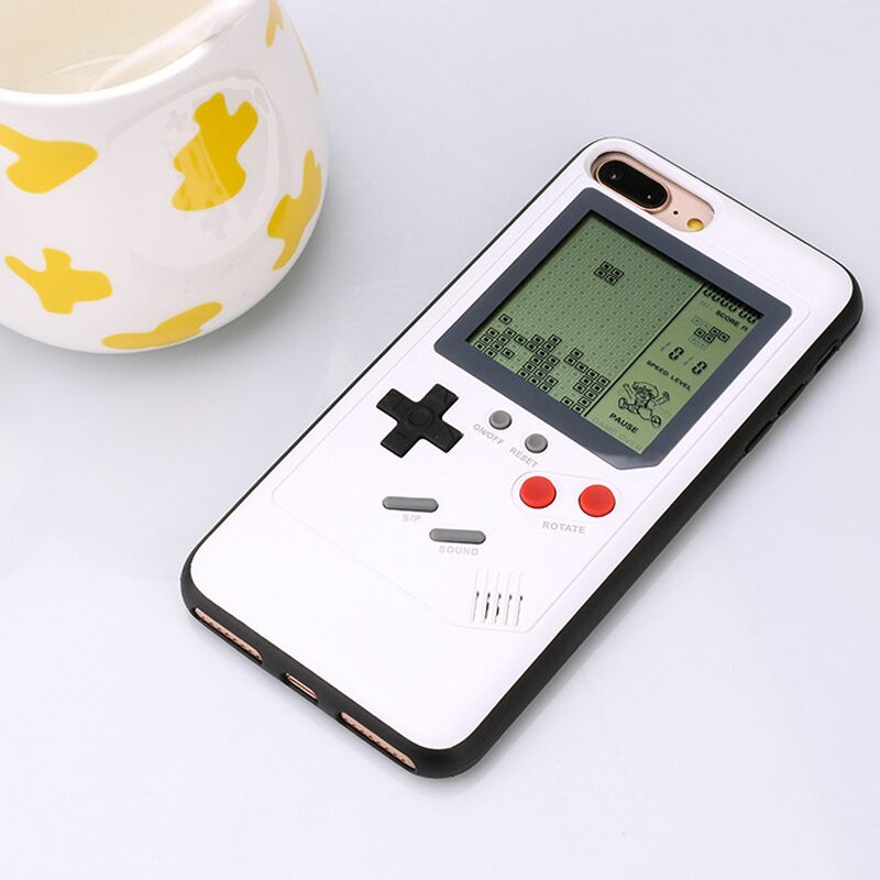 Phone Cases for iPhone X 6plus 6s 7 7plus 8 8plus Play Blokus Game Console Cover Protective Gift Fitted Case Tetris Ninetendo
