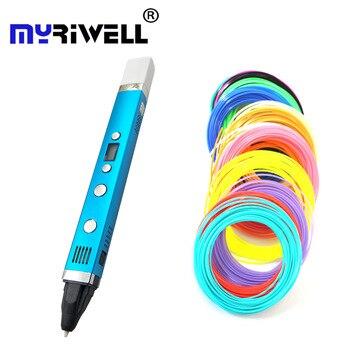 Myriwell 3D Ручка USB разъем 5 в 2 а креативная ручка 3D граффити ручка лучший подарок детям 3 поколения 3d печать Ручка