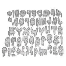 Шт. 1 шт. DIY Алфавит резка умирает Металл трафарет тиснение плесень шаблон для карты декор бумага книги по искусству Craft альбом Скрапбукинг