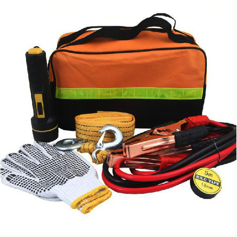 6pcs Car Emergency Kit Rescue Bag Vehicle Truck Toolbox Repair Tool First Aid Flashlight Traction Rope Insulation Tape DJB012