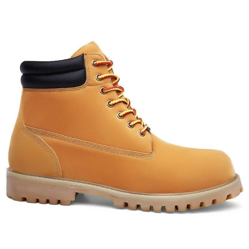 Retro Calçados 2019 Livre Homens Size Yellow Botas Sapatos Trabalho Alta De Ferramental Da Up black Plus Ar Moda Ao Qualidade Clássicos Lace Masculino Tornozelo nH1xwR