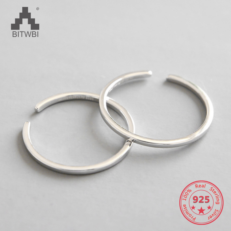 Factory Price 100% 925 Sterling Silver Fashion Minimalism Open Ring Couples Fine Jewelry for Female