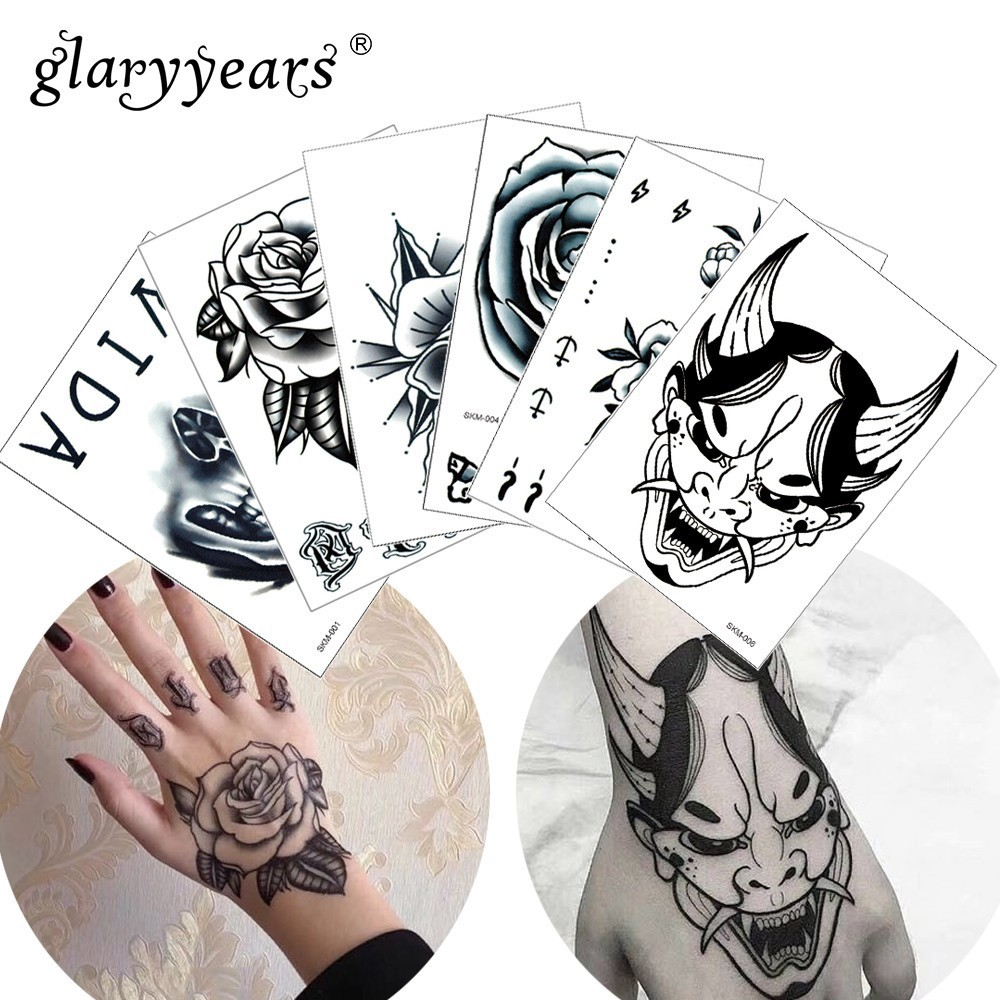 Glaryyears 1 Pc Temporary Tattoo Sticker Beautiful Fake Tatoo Flower Flash Waterproof Small Body Art Men Women Skm 16 Designs Temporary Tattoos Aliexpress