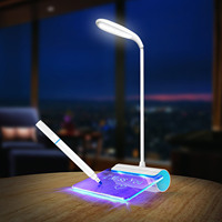 HJYVIOTIN Rechargeable Desk Lamp With Message Board DC5V USB LED Light Touch Switch Luminaria De Mesa Night Lights Reading Gift