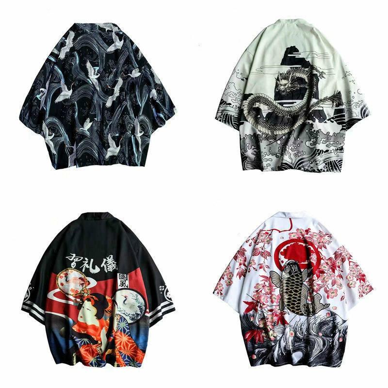 Various Japanese Pattern Kimonos 4