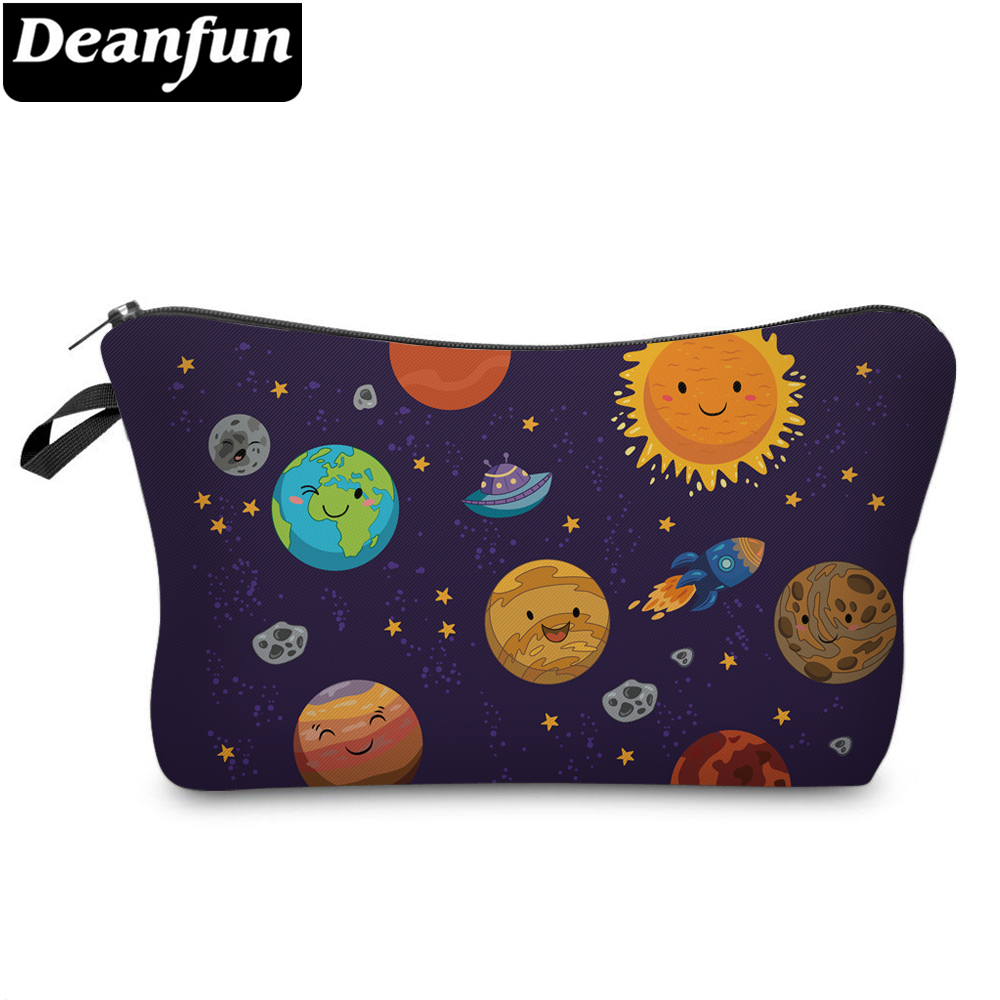 Deanfun 3D Printed Cosmetic Bags Planet Pattern Funny Travel Necessities for Women Makeup 51240 #Deanfun 3D Printed Cosmetic Bags Planet Pattern Funny Travel Necessities for Women Makeup 51240 #