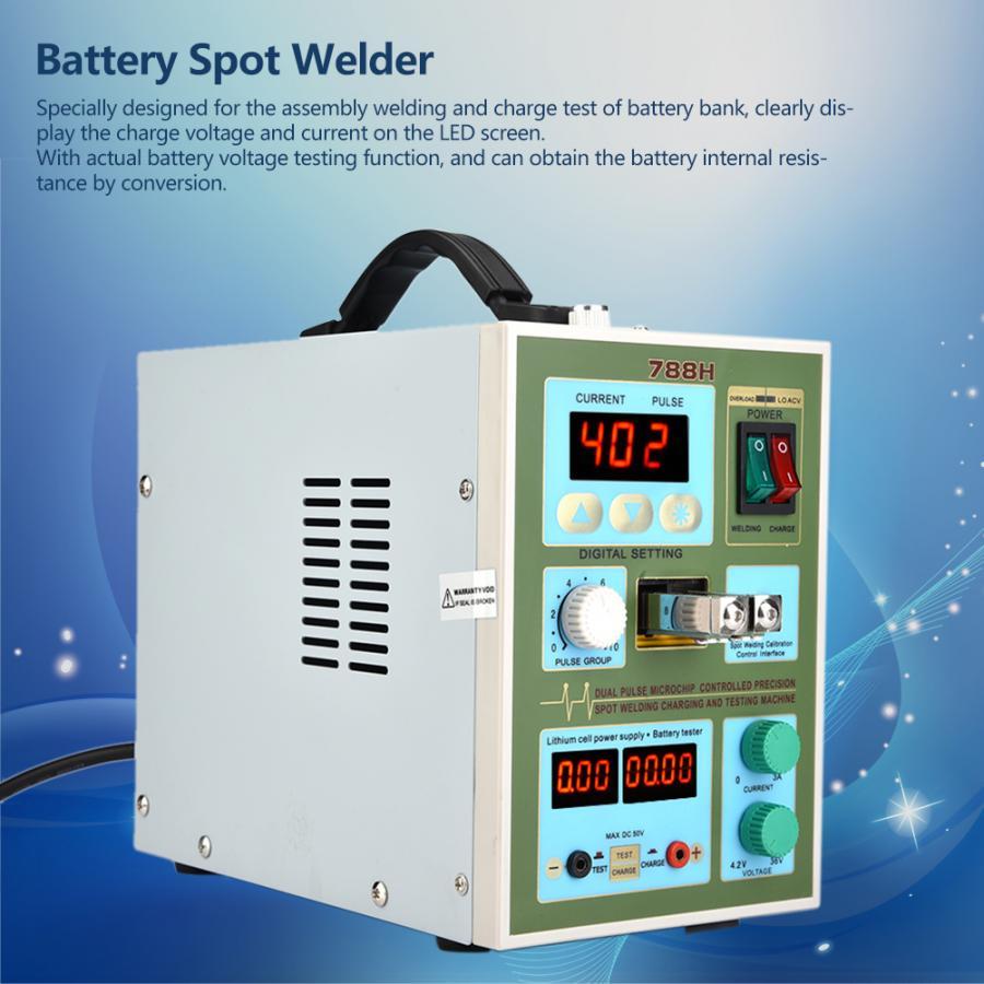 Spot Welding Dual use Charge Test 16 Pulse Spot Welder DIY 18650 Battery Spot Welding Machine