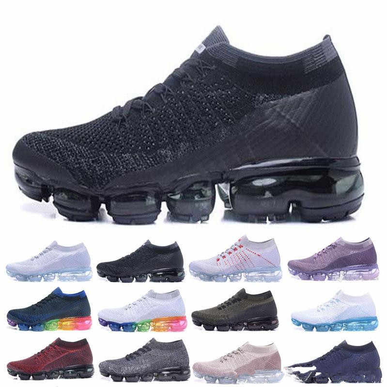 promo code 1d884 542ac New 2018 Air Vapormax Flyknit Men s Women Max 2018 Running Shoes Sports  Sneakers Outdoor Athletic Max