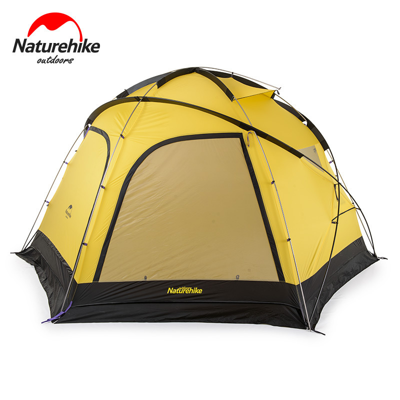 Nature randonnée Fallstreak trou Super 4-6 personnes tente en plein air Camp tente groupe Camping équipement tente hexagonale