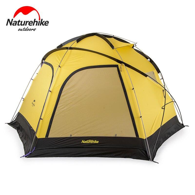 Naturehike Fallstreak agujero Super 4-6 personas tienda de campaña al aire libre campamento tienda grupo Camping Hexagonal carpa