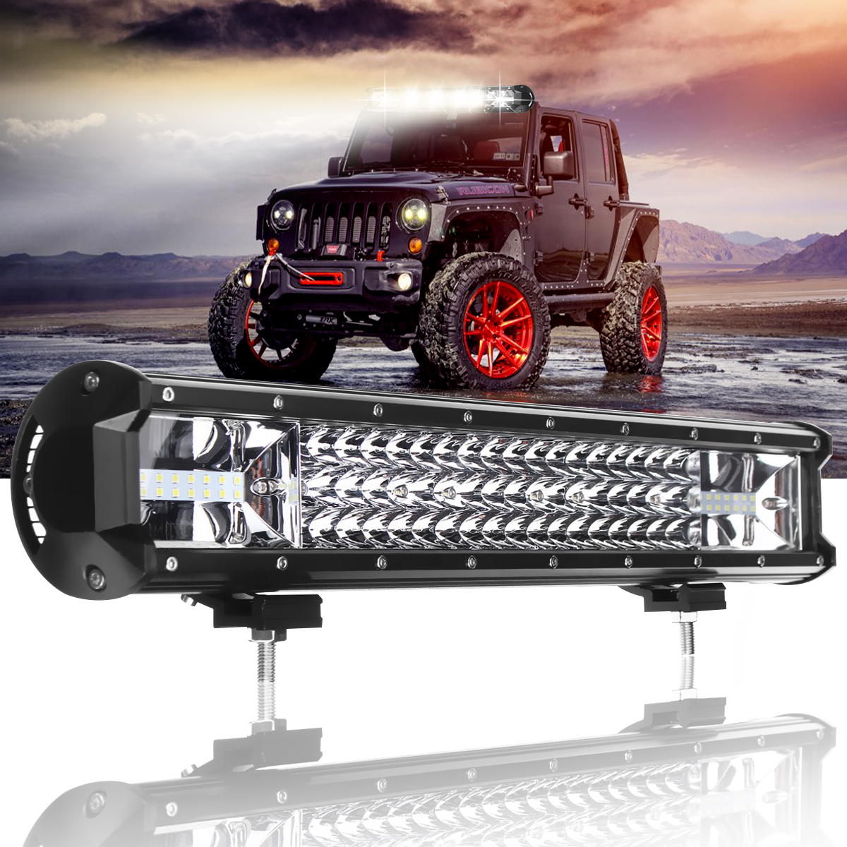 20 inch 540W Triple row 7D Car LED Work Light Bar Spot Flood Combo Offroad Light Driving Lamp for Truck SUV 4X4 4WD ATV