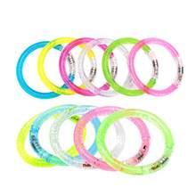 7847937719f5 12 piezas concierto pulseras luminoso fluorescente del creativa colorido  LED pulseras y brazaletes para conciertos uso fiesta su.