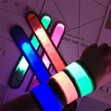 Светодиодный светящийся браслет, флуоресцентный браслет, новогодний, Свадебный, вечерний, аксессуары для концерта, карнавала, ночного освещения, браслет