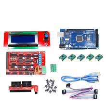 Motherboard 1pcs Mega 2560 R3 + 1pcs RAMPS 1.4 + 5pcs A4988 Stepper Driver Module +1pcs 12864 Controller 3D Printer Board Kits все цены