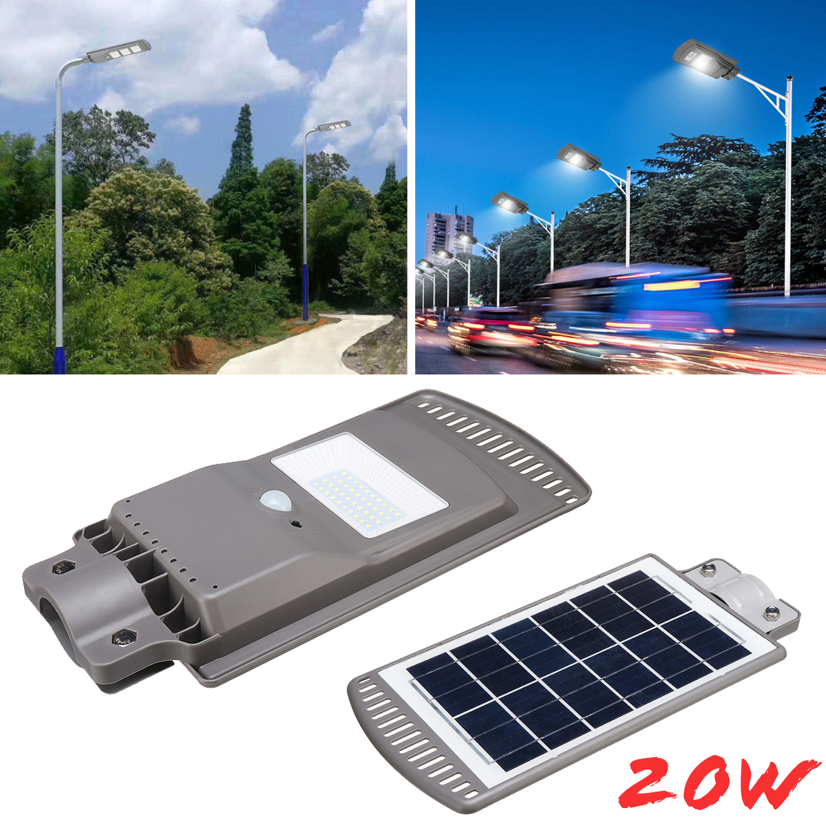 Waterproof IP67 20W Solar Panel LED Solar Street Light All-in-1 Intelligent Time Switch Wall Lighting Lamp for Outdoor Garden high lumen 60w all in one solar street light south africa for commerical lighting residential lighting