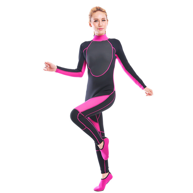 60be43e504 2019 One-Piece Close Body Wetsuit 3MM Neoprene Women s Full Long Suit Keep  Warm Jumpsuit Diving Scuba Surfing Stitching Premium