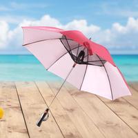 NEW Umbrella with Fan USB Long Handle Sun Proof Umbrella UV Protection Sun Umbrella with Fan Cool Umbrella #4O