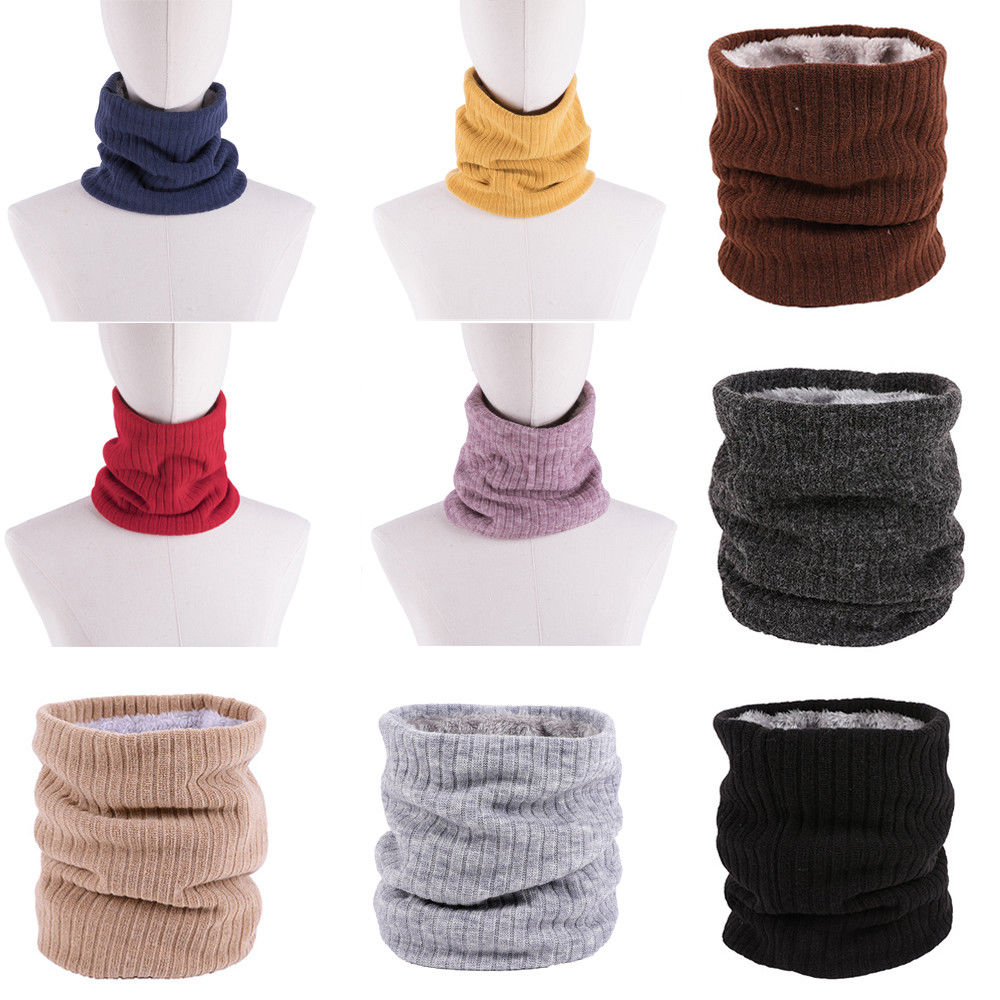 Shop For Cheap New Women Ladies Fleece Neck Warmer Thermal Snood Scarf Ski Wear Scarf Hot Durable In Use