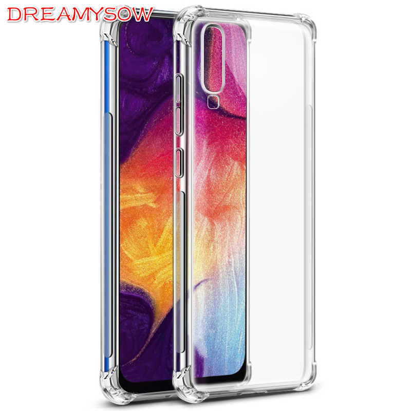 Luxury Shockproof Bumper Transparent Silicone Phone Case For Samsung Galaxy A50 A30 A20E A10 A60 A70 Clear protection Back Cover
