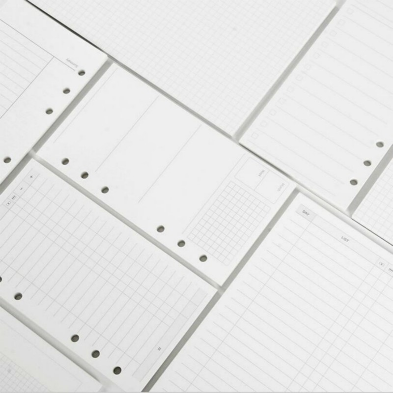 60 Sheets A5 Loose Leaf Notebook Refill Spiral Binder