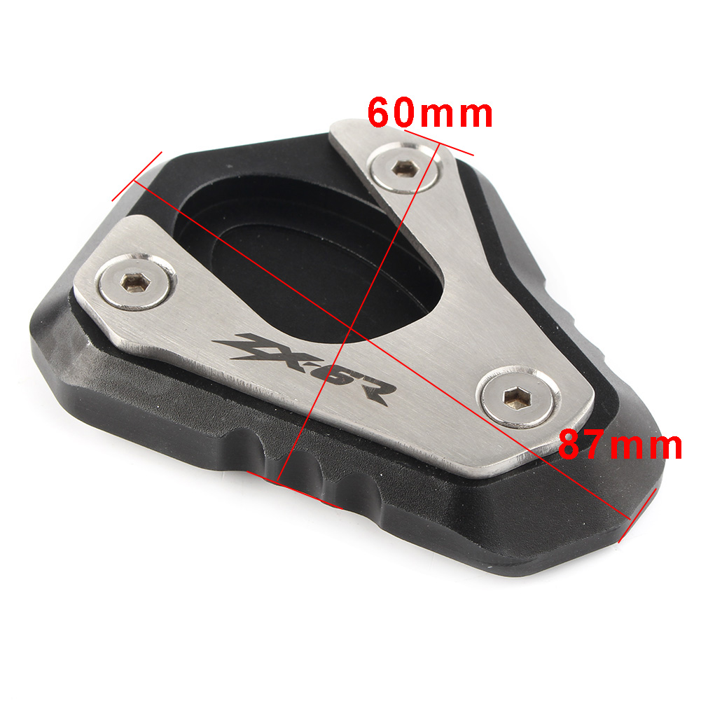 CNC Kickstand Side Stand Extension Plate Enlarger Pad for Kawasaki ZX 6R ZX6R 2009 2017 NINJA 636 2013 2014 2015 2016 2017 in Stands from Automobiles Motorcycles