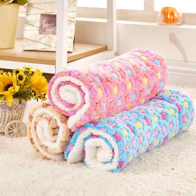 Breathable Dog Cat Bed Winter Rest Blanket Foldable Pet Hondenmand Coral Cashmere Cushion Soft Warm Sleep Mat Sweet Dream Bed