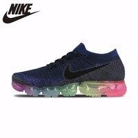 Nike Air Vapormax Flyknit оригинальный Для женщин кроссовки уличная спортивная обувь нескользящие дышащие кроссовки #883275 400