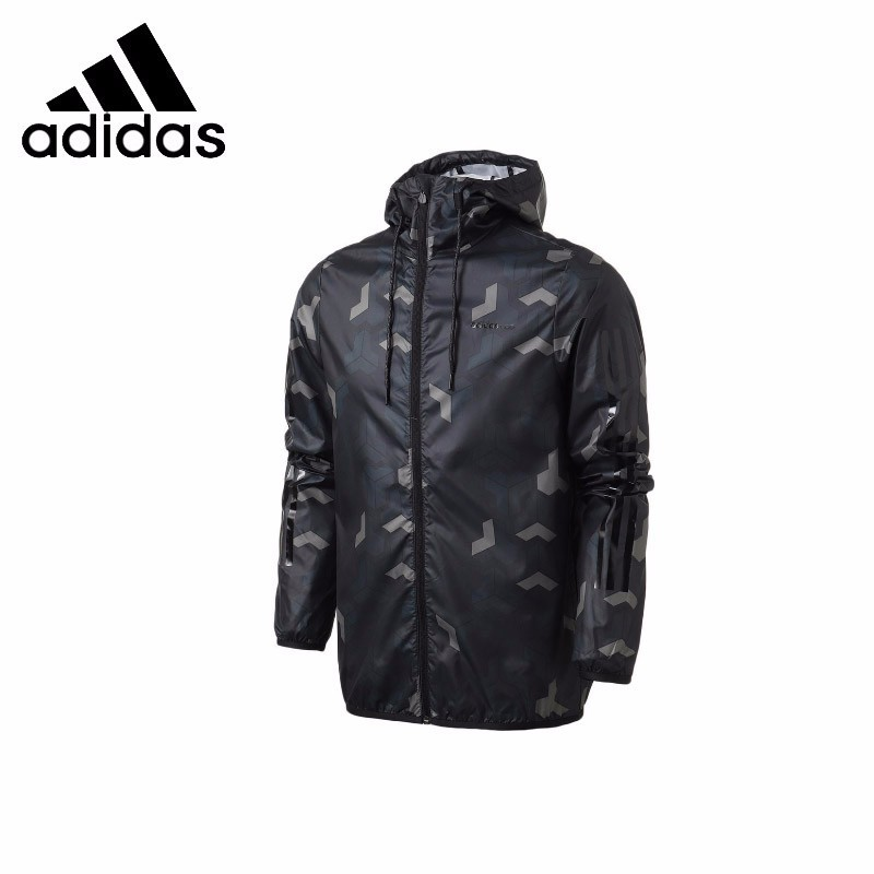 <font><b>Adidas</b></font> Neo Male Running Jacket Sports <font><b>Mens</b></font> Clothes Wind-proof Hoodies Coat #DM2156 image