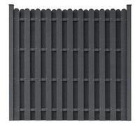 VidaXL WPC Fence Panel Square Grey Wood Plastic Composite Classically Garden Barrier Residential Fence Garden Supplies