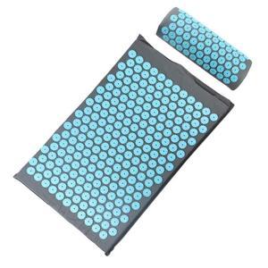 Image 5 - Acupressure massageador esteira almofada aliviar relaxamento corpo pé para trás estresse dor ponto esteira acupressure yoga esteira com travesseiro